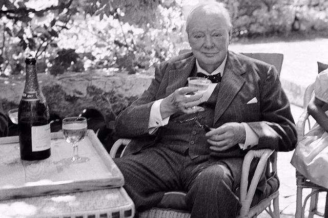 Et glas med Winston Churchill