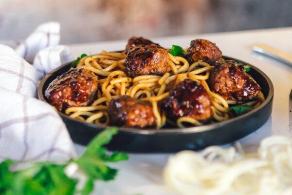 Spaghetti meatballs & rødvin