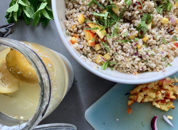 Nordafrikansk perlespeltsalat
