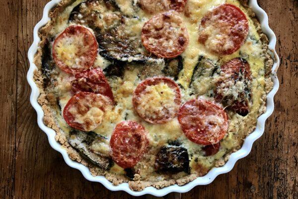 Provencalsk tærte med grillede grøntsager