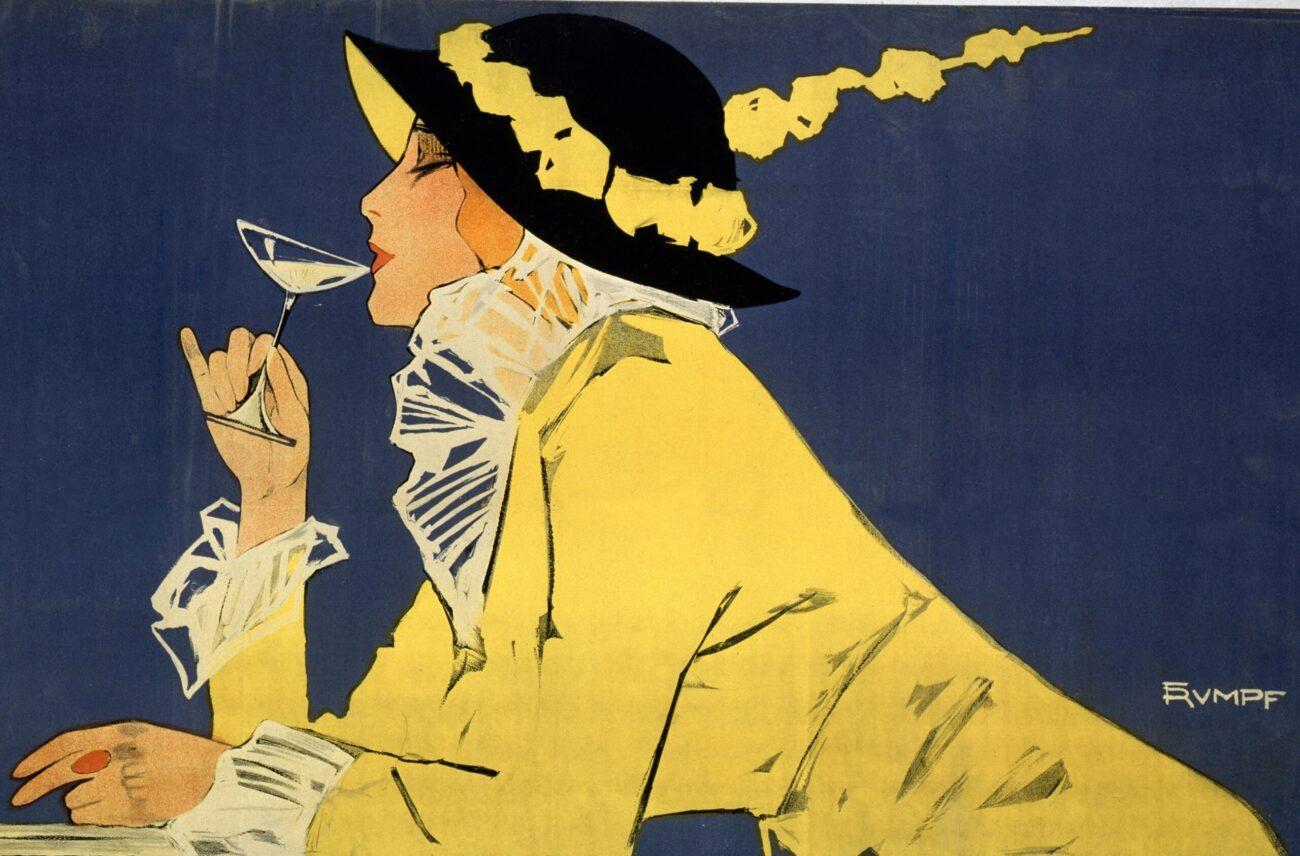 Kvinde med Champagne